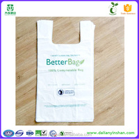 PBAT cornstarch fully biodegradable plastic shopping bag