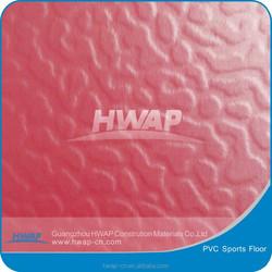 Anti bacterial Water proof emboose pattern PVC sports floor