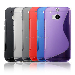 for htc one m8 back cover case, s line wave silicone gel case cover for htc one m8