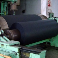 The paper company cardstock black paper roll for shopping bags