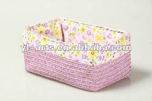 mini colour household paper straw rectangle storage boxs