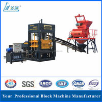 QT6-20 Manual Concrete Hollow Block Mold cement making machinery with high quality