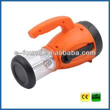 Emergency Dynamo led Flashlight with radio / hand crank torch light with radio / Dynamo flashlight USB charger