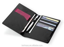 China Supply Black Leather Passport Wallet, 7 slots Passport Wallet/Fashion Passport Case