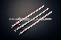 High quality thin leather dog collars for wholesale with the bell