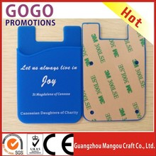 best promotion gift 3m sticker business smartphone silicone card holder,Durable Custom Fashional 3M sticker silicon smart wallet