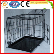 Foldable Three Door Steel Wire Mesh Dog Cages For Sale