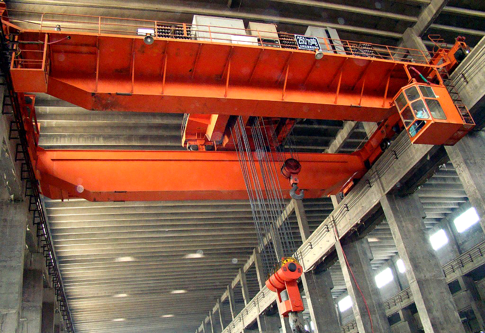 Overhead Crane Ground Bar : Ton overhead crane bridge view