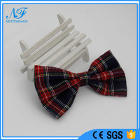 2016 New Fashion Design Hot Checkered Textile Bowknot Brooches/ Hair Pins/Ties / Hairbands Set for Garments for kids as gifts