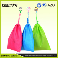 Women fashion custom reusable Hot sale cheap pp non woven drawstring colorful bag for travel collecting, shoes