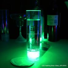 LED flashing glowing plastic straw light up glass