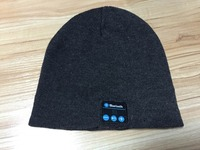 Top class quality knitting panton color bluetooth beanie hat with headphone