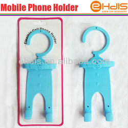 car accessory mobile phone car holder flexible soft silicone cell phone holder funny cell phone holder for desk
