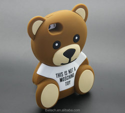 3D MOSCHINO bear silicone case for iphone 5 for iphone 6 plus for SAMSUNG