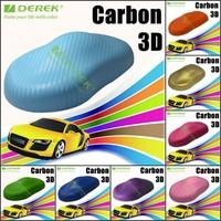 Hot Selling Car Wrap Film 3D Carbon Fiber Vinyl Roll Bubble Free 1.52x30m