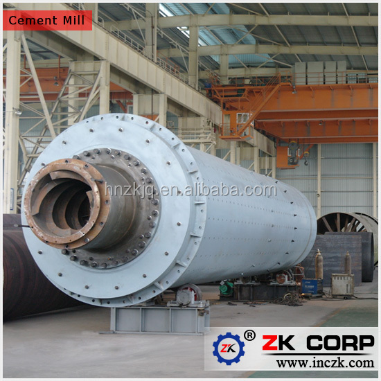 Cement Ball Mill : Zk cement ball mill tpd for plant machinery