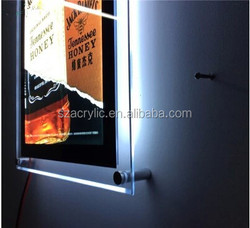 with Led light acrylic frame