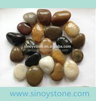 natural river pebble stone walkway