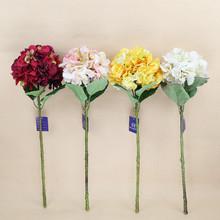 "28"" indoor decoration wholesale artificial silk hydrangea flower"
