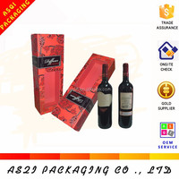 high grade beauty single luxury paper decorative wine box cover with window