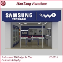 Customized cell phone accessory kiosks for sale in China