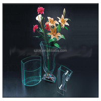 custom mini bule color clear fashional acrylic fish tank