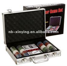 Hot selling aluminum 200 poker chip game set