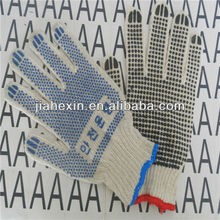 Fit hand type dot cotton gloves safety gloves are made in China