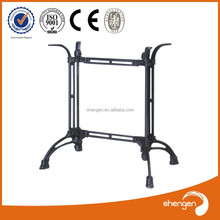 HD089 contemporary furniture foldable forged iron counter height curved table legs
