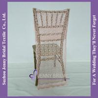 C305B pink wedding chair hood cheap chair covers for folding chairs