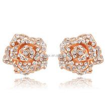 ali express jewelry CDE earring rose flower jewelery