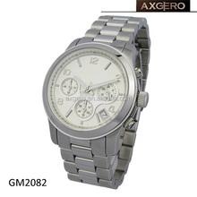 fashion oem japan movt quartz wrist watch stainless steel back for men