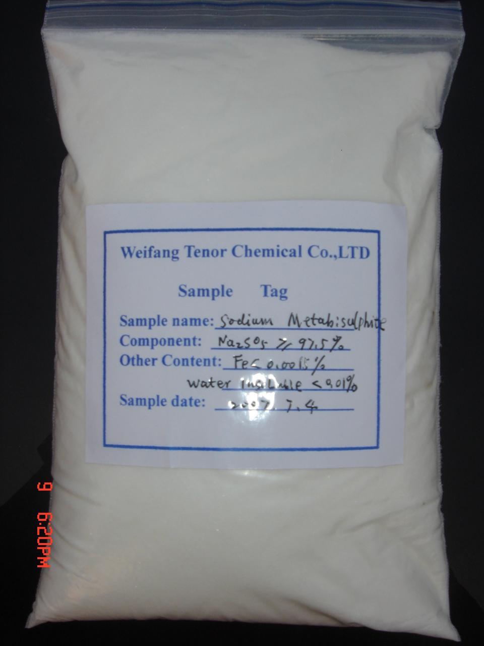 ميتابيسلفيت الصوديوم 98%