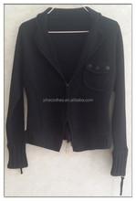 Women zipper sweater coat,simple design ladies cardigan sweater