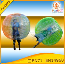 Manufacturer inflatable soccer bubble / body zorb ball / football inflatable body zorb ball