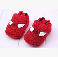 Newborn baby shoes 100% cotton cute spiderman design infant shoes