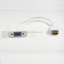 Wholesale - HDMI to VGA Cable with audio output, in white, HDMI to VGA Adapter with audio , HDMI to VGA converter with audio