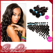 100% Natural raw unprocessed brazilian remy 100% human hair extension