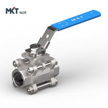 Wenzhou CF8&CF8M material heavy New Product Stainless Steel Three PC Ball Valve