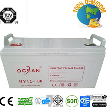2015 Manufacturing Gel Battery 12V 100Ah for Solar UPS