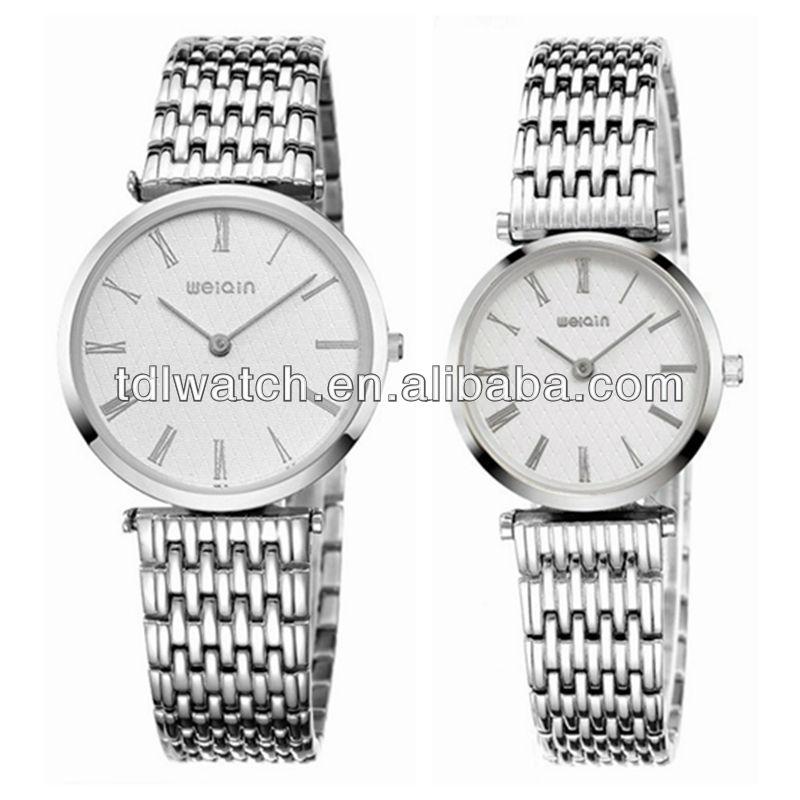 Aço inoxidável de alta qualidade marca de relógios para casais
