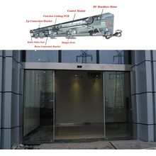 Tempered Glass Stainless Cover Hotel Automatic Sliding Door