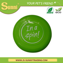 """Customed Printing PP 9"""" promotional frisbee canvas pet dog toy(made in china)"""
