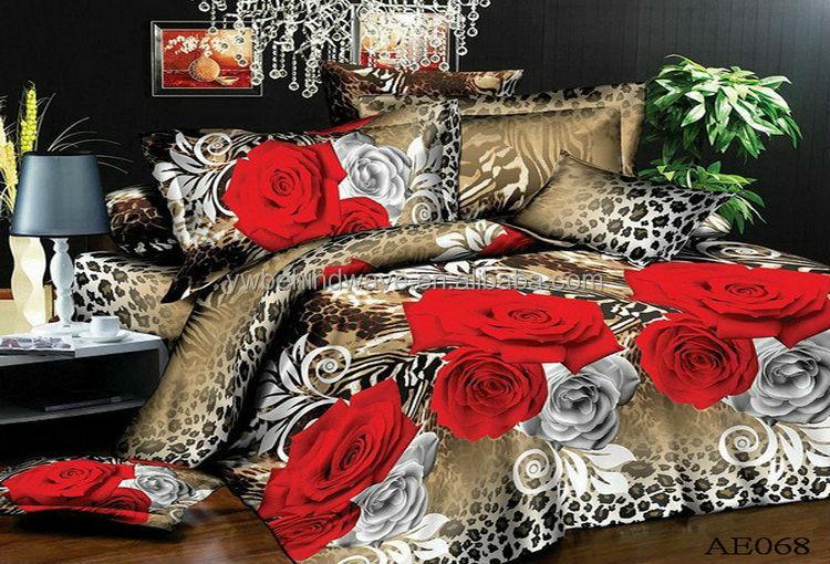 Belle fleur designs 100 polyester tissu 3d linge de lit vendre pas cher li - Lit a vendre pas cher ...