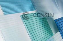 UV Protective Coating 100% Lexan Raw Material Polycarbonate Twin Wall Hollow Shine Sheets