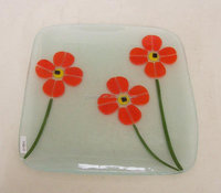 Flower Glass Home Decoration Plate glass ornament flat glass ornaments