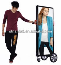 J2B-679 Exclusive! mobile two sides battery operated advertising modern banner for promotion