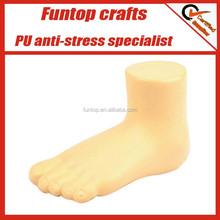 Polyurethane foam stress ball foot