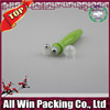 transparent cap moss green plastic roll on bottle with steel roll ball