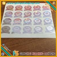 Profesional design hologram vials labels for Testosterone Enanthate,Professional print quality silver foil label